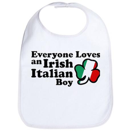Everyone Loves an Irish Italian Boy Bib