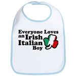 Everyone Loves an Irish Italian Boy Bib