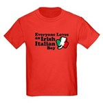 Everyone Loves an Irish Italian Boy Kids Dark T-Sh