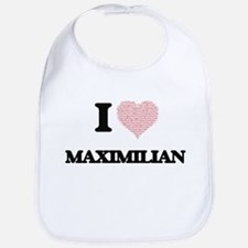 I Love Maximilian (Heart Made from Love words) Bib