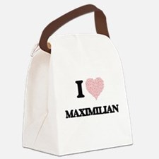 I Love Maximilian (Heart Made fro Canvas Lunch Bag