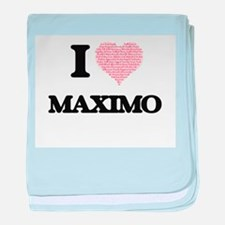 I Love Maximo (Heart Made from Love w baby blanket