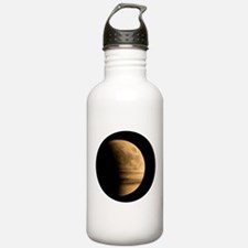 Eclipse with clouds Water Bottle