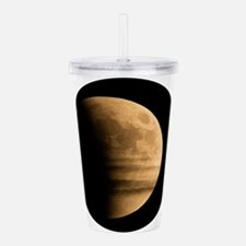 Eclipse with clouds Acrylic Double-wall Tumbler