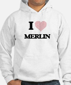 I Love Merlin (Heart Made from L Hoodie