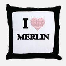 I Love Merlin (Heart Made from Love w Throw Pillow