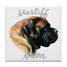 Mastiff(apricot)Mom2 Tile Coaster