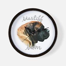 Mastiff(apricot)Mom2 Wall Clock