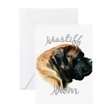 Mastiff(apricot)Mom2 Greeting Card