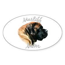Mastiff(apricot)Mom2 Oval Decal