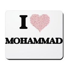 I Love Mohammad (Heart Made from Love wo Mousepad