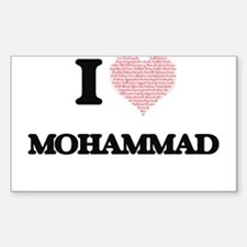 I Love Mohammad (Heart Made from Love word Decal