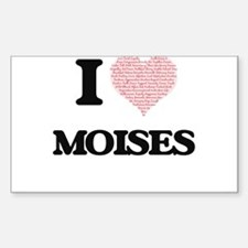 I Love Moises (Heart Made from Love words) Decal