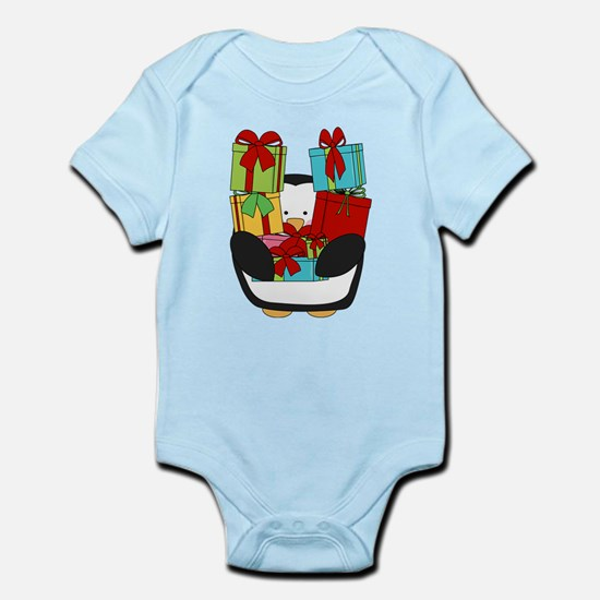 christmas penquin and Baby Light Bodysuit