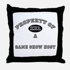 Property of a Game Show Host Throw Pillow