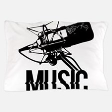 Music,microphone Pillow Case