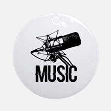 Music,microphone Round Ornament