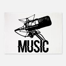 Music,microphone 5'x7'Area Rug