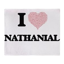 I Love Nathanial (Heart Made from Lo Throw Blanket