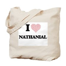 I Love Nathanial (Heart Made from Love wo Tote Bag