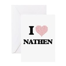 I Love Nathen (Heart Made from Love Greeting Cards