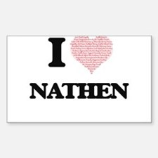 I Love Nathen (Heart Made from Love words) Decal