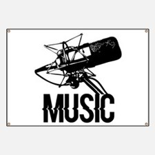 Music,microphone Banner