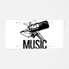 Music,microphone Aluminum License Plate