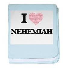 I Love Nehemiah (Heart Made from Love baby blanket