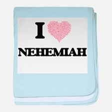 I Love Nehemiah (Heart Made from Love baby blanket