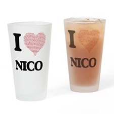 I Love Nico (Heart Made from Love w Drinking Glass