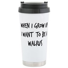 Cute Walrus Travel Mug