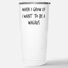 Unique Walrus Travel Mug