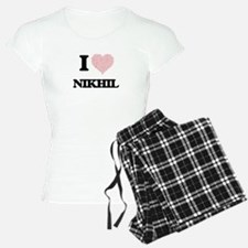 I Love Nikhil (Heart Made f Pajamas