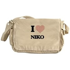 I Love Niko (Heart Made from Love wo Messenger Bag