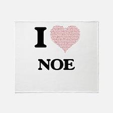 I Love Noe (Heart Made from Love wor Throw Blanket