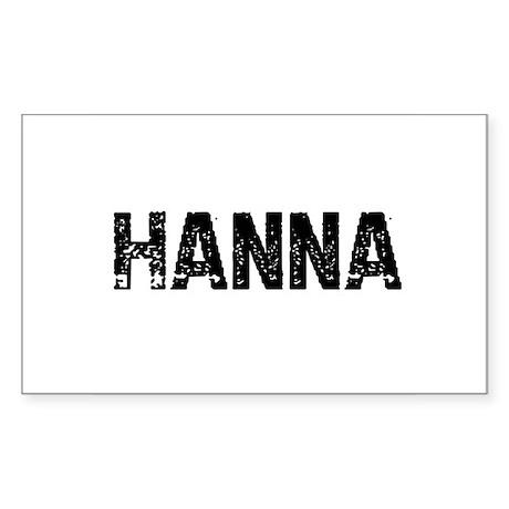 Hanna Rectangle Sticker