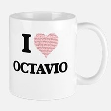 I Love Octavio (Heart Made from Love words) Mugs