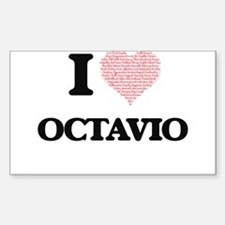 I Love Octavio (Heart Made from Love words Decal