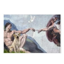 Creation & Yellow Labrador Postcards (Package of 8