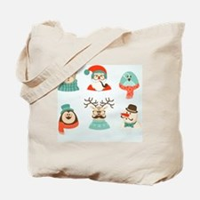 Cute Mustache and monocle Tote Bag