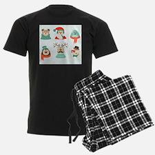 christmas hipster santa Pajamas