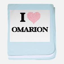 I Love Omarion (Heart Made from Love baby blanket