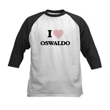 I Love Oswaldo (Heart Made from Lo Baseball Jersey