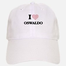 I Love Oswaldo (Heart Made from Love words) Baseball Baseball Cap