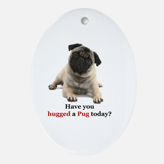 Unique Pug Oval Ornament