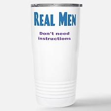 Real Men Travel Mug