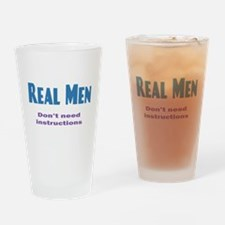 Real Men Drinking Glass