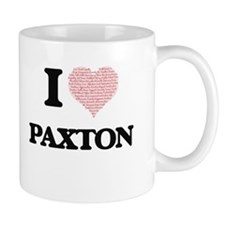 I Love Paxton (Heart Made from Love words) Mugs