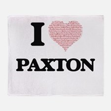 I Love Paxton (Heart Made from Love Throw Blanket